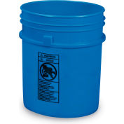 Plastic Pail - 5-Gal. Capacity - Blue - Pkg Qty 4
