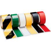 "Self-Adhesive Safety Tape - 3""Wx54'L Roll - Laminated Vinyl - Black/Yellow Stripe - Pkg Qty 4"