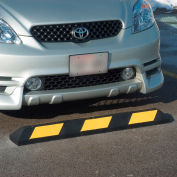 """Recycled Rubber Parking Stop - 48""""Wx6""""Dx4.5""""H"""