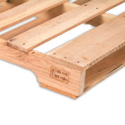 "Relius Solutions Hardwood Pallets - Heat Treated And Stamped Pallet - 80""Wx48""Lx4-7/8""H - Pkg Qty 10"