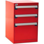 """Rousseau Three-Drawer Pedestal For Modular Mobile Cabinets - 6"""", 12"""" Front Drawer Heights"""