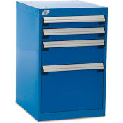 """Rousseau Four-Drawer Pedestal For Modular Mobile Cabinets - 3"""",6"""",12"""" Front Drawer Heights"""