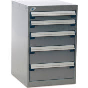 """Rousseau Five-Drawer Pedestal For Modular Mobile Cabinets - 3"""",4"""",5"""",6"""" Front Drawer Heights"""