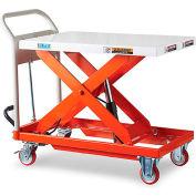 """Relius EliteTM Mobile Lift Table - 881-Lb. Capacity - 19.7""""Wx31.5""""D Platform"""