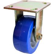 "Albion Yellow Zinc Chromate Finish Caster- 6""D x 2""W Polyurethane Tread Wheel on Aluminum Core Rigid"