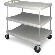 "Metro myCart™ Three-Shelf Utility Cart with Chrome-Plated Posts - 34x27"" Shelves Green"