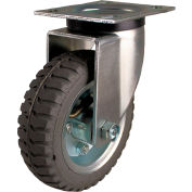 "Albion 6"" Pneumatic Wheel Casters - 4x4-1/2"" Top Plate w/ 2-5/8x3-5/8"" or 3x3"" Swivel - Pkg Qty 2"