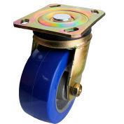 "Albion Yellow Zinc Chromate Finish Caster- 6""D x 2""W Polyurethane Tread Wheel on Aluminum Core"