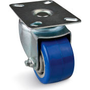 Albion Plate Caster - Polyurethane Wheel with Precision Ball Bearing - 450-lb. Capacity