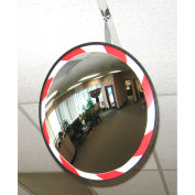 "Convex Safety Mirrors - High-Visibility Acrylic - 26"" Dia. - Outdoor"