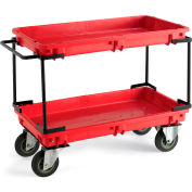 "Relius Solutions Tray-Shelf Utility Cart - 38""Wx20""D Shelf"