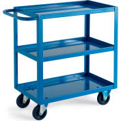 "Relius Solutions All-Welded Shelf Carts - 36""Wx24""D Shelf - 3 Shelves - 1-1/2"" Lip"