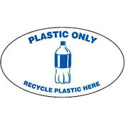 Techstar Bullseye Oval Labels For Recycling Containers - Plastic Only