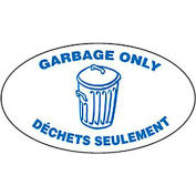 Techstar Bullseye Oval Labels For Recycling Containers - Garbage Only