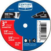 "Century Drill 08323 Cutting Wheel 3"" x 3/8"" Aluminum Oxide"