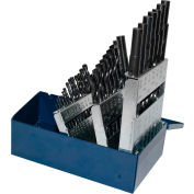 "Century Drill 24038 - Black Oxide Drill Bit 29 Piece Set - 135° - 3/8"" RS 1/16"" to 1-1/2"""