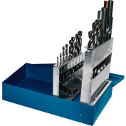 """Century Drill 25230 - Charger Drill Bit 15 Piece Set - 135° - 3/8"""" RS 1/16 to 1/4"""" by 64ths"""