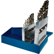"Century Drill 26115 - Cobalt Drill Bit 15 Piece Set - 135° - 1/16"" to 1/2"" by 32nds"