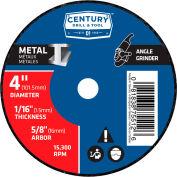 "Century Drill 075512 Cutting Wheel 4"" x 5/8"" Aluminum Oxide"