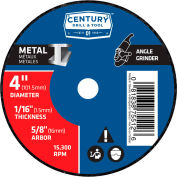 "Century Drill 075512 Cutting Wheel 4"" x 5/8"" Aluminum Oxide"