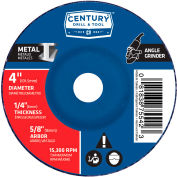 "Century Drill  75542  Depressed Center Grinding Wheel 4"" x 5/8""  Type 27 Aluminum Oxide"