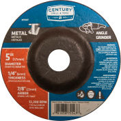 "Century Drill  75547  Depressed Center Grinding Wheel 5"" x 7/8""  Type 27 Aluminum Oxide"