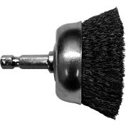"Century Drill 76223 Drill Cup Brush 2-3/4"" Dia. Crimped Steel 0.008"""