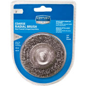 "Century Drill 76431 Drill Radial Wire Brush 3"" Dia. Steel Crimped"