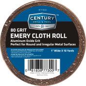 "Century Drill 77300 Emery Cloth Shop Roll 10 Yards 1"" Wide 80 Grit"