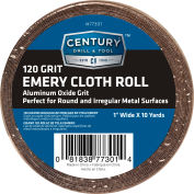 "Century Drill 77301 Emery Cloth Shop Roll 10 Yards 1"" Wide 120 Grit"