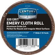 "Century Drill 77303 Emery Cloth Shop Roll 10 Yards 1"" Wide 320 Grit"