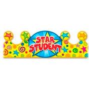 """Carson-Dellosa Star Student Crown, CDP101020, 4""""H x 23.5""""W, Multicolor, 30/Pk"""