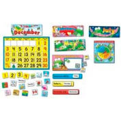 "Carson-Dellosa® Frog Calendar Bulletin Board Set, 24"" x 17"" Calendar, 148 Pieces/Set"