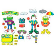 Carson-Dellosa® Funky Frog Weather Bulletin Board Set, 82 Pieces/Set