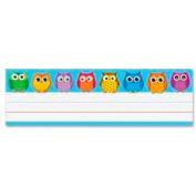 "Carson-Dellosa® Owl Nameplates, 9-1/2"" x 2-7/8"", 36/Pack"