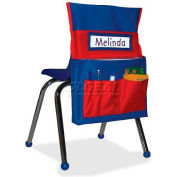 "Carson-Dellosa® Chairback Buddy™ Pocket Chart, 15""W x 2""D x 19""H, Blue/Red"