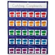 """Carson-Dellosa® Positive Reinforcement Pocket Chart, 22"""" x 29"""" Chart, 31 Pcs/Pack"""
