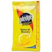 Pledge® Furniture Wipes, Lemon Scent, 18 per Pack, 12 Packs per Carton - 624489