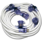 Pro Cap® D12420050 Multi Outlet Extention Cord With 50 ft Cord, 12/3 Awg Sz, White