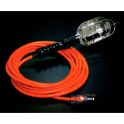 Pro Glo® Trouble Light With 25 ft Cord, Grounded Handle Outlet, 16/3, Orange