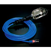 Pro Glo® Trouble Light With 25 ft Cord, Grounded Handle Outlet, 16/3, Blue