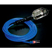 Pro Glo® D12925025 Trouble Light With 25 ft Cord, Grounded Handle Outlet, 12/3, Blue