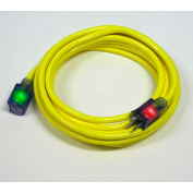 Pro Glo® D17003050 Extension Cord With 50 ft Cord, 10/3 Awg Sz, Yellow