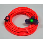 Pro Glo® D17222100 Triple Tap Extension Cord With 100 ft Cord, 12/3 Awg Sz, Orange