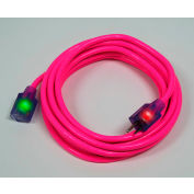 Pro Glo® D17335025 Extension Cord With 25 ft Cord, 14/3 Awg Sz, Pink