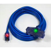 Pro Glo® D17666100 Triple Tap Extension Cord With 100 ft Cord, 14/3 Awg Sz, Blue
