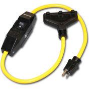 Power Tech® D18020003 Powertech Adapter With 3 ft Cord, 20 Amps, 12/3 Awg Sz, 55 Lbs Ctn