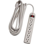 Century® D19004190 6 Outlet Surge Strip With 15-ft Cord, Beige