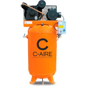 C-AIRE A050V080-3460FP Two Stage Air Compressor-FP, 5 HP, 460V, 3PH, 80 Gal. Vertical Tank