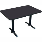 "Correll Restaurant Table - Rectangular - 30"" x 48"" x 29"" - Laminate - Black Granite"